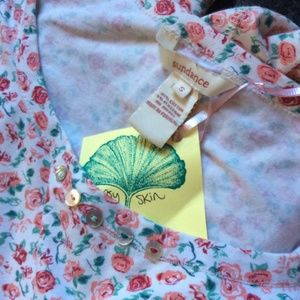 Sundance Tops - Sundance Roses & Shell Buttons Soft PJ Tunic
